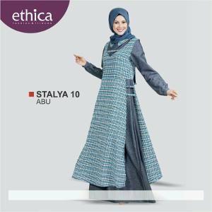 Baju Gamis Wanita Ethica Stalya 10 Abu Ethica Kebaya Fashion