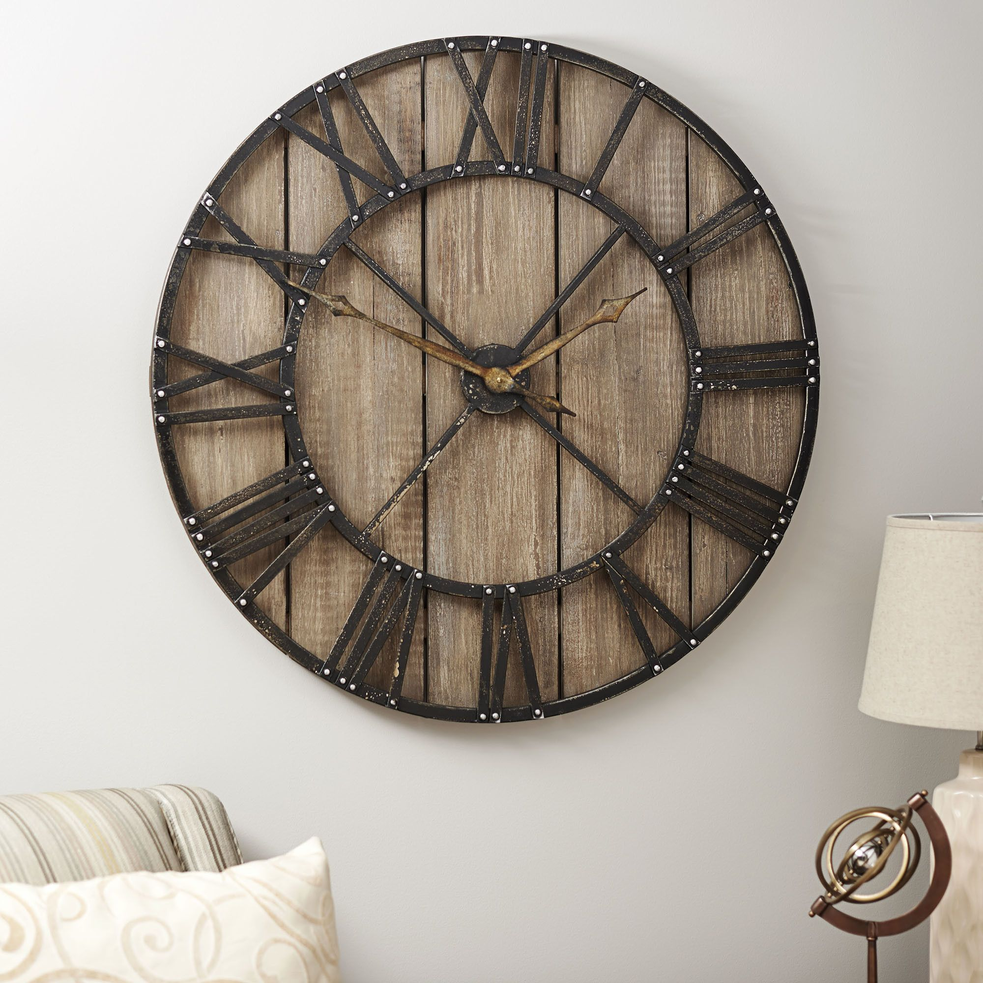 """$175 Household Essentials Oversized 36"""" Roman Numerals Wall Clock"""