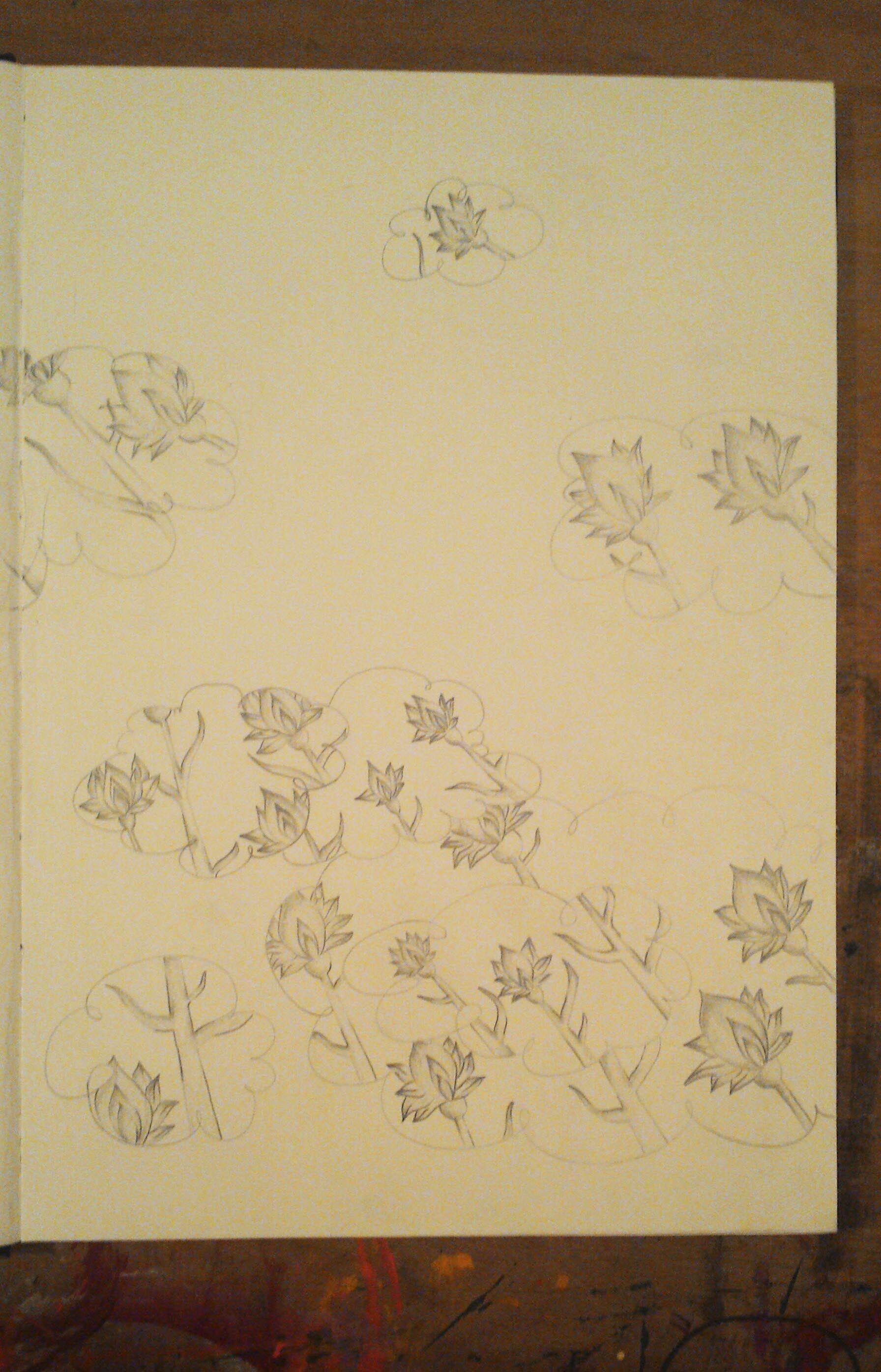 """""""nuvens de flores"""" grafite"""