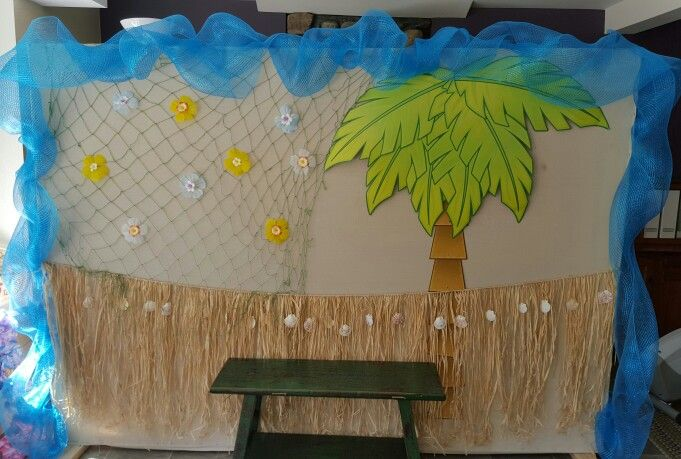 Luau photo backdrop ready to go