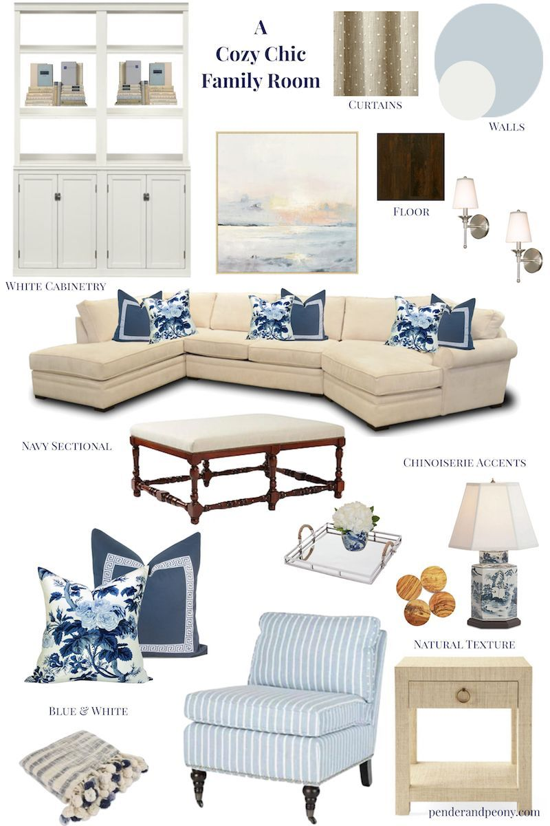Photo of A Cozy Chic Family Room – Pender & Peony – A Southern Blog –  Natural textures, …
