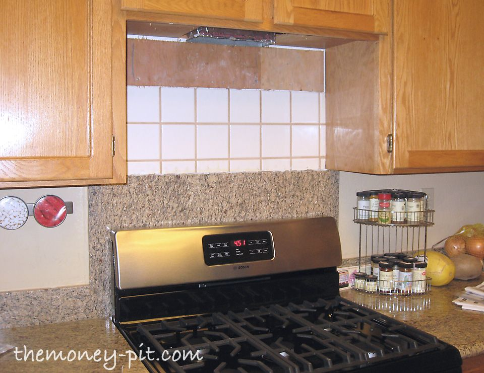 The Money Pit Installing A Pencil Tile Backsplash And Cost