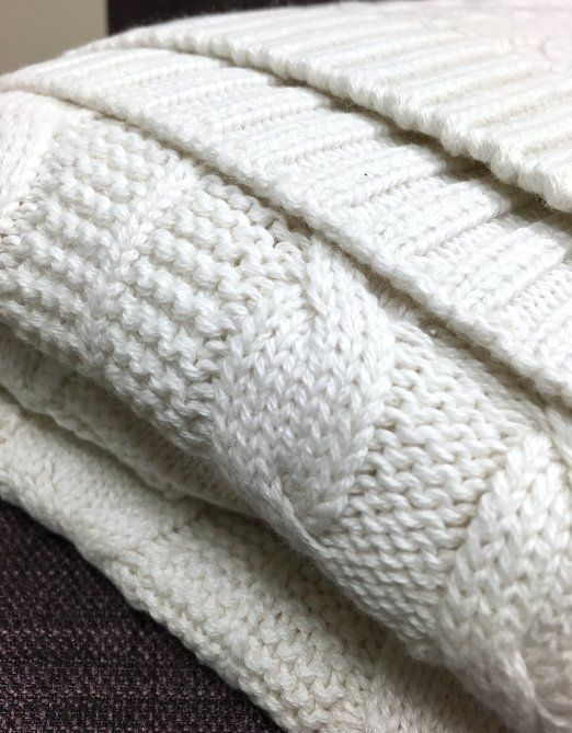 Amazon Pure Organic Cotton Cable Knit Throw Natural Cotton Stunning White Cable Knit Throw Blanket