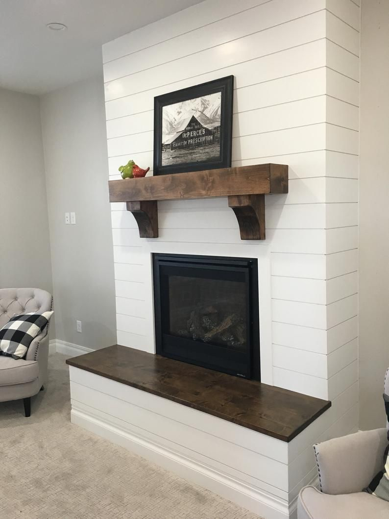 Custom Fireplace Mantel, Fireplace Mantel with Corbels, Faux Solid Wood Beam, Wood Mantel, Distressed Mantel, Rustic Floating Mantel