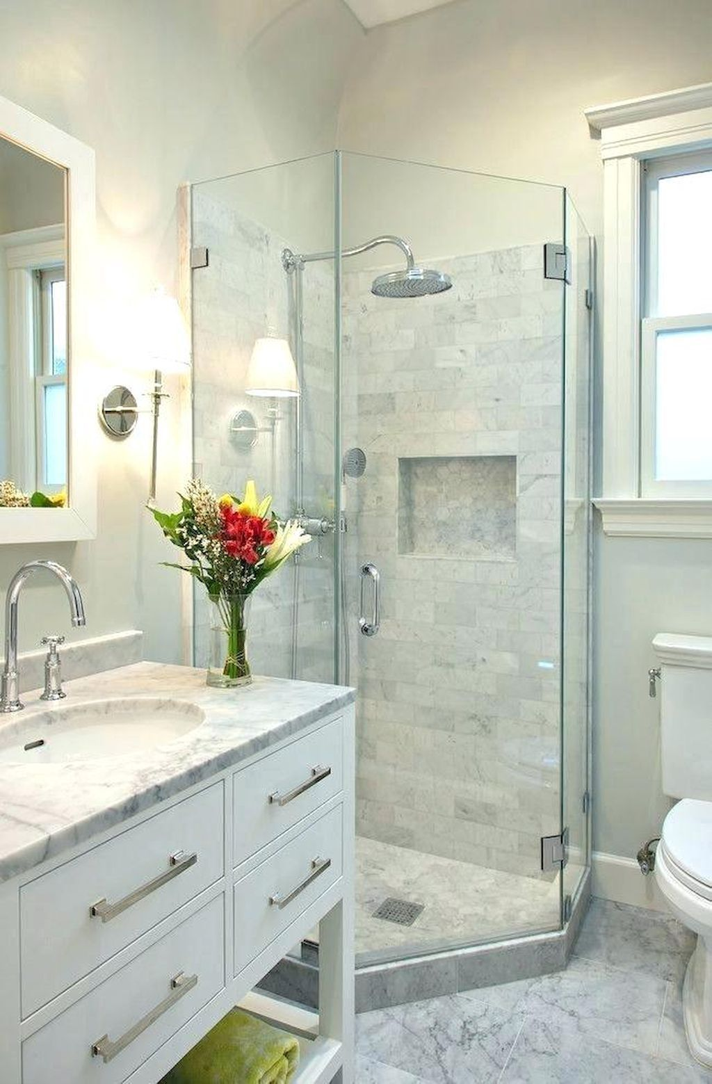 Cool 65 Beautiful Modern Bathroom Shower Ideas Https Homespecially Com 65 Beautiful Modern Bathr Small Master Bathroom Bathroom Remodel Shower Small Bathroom