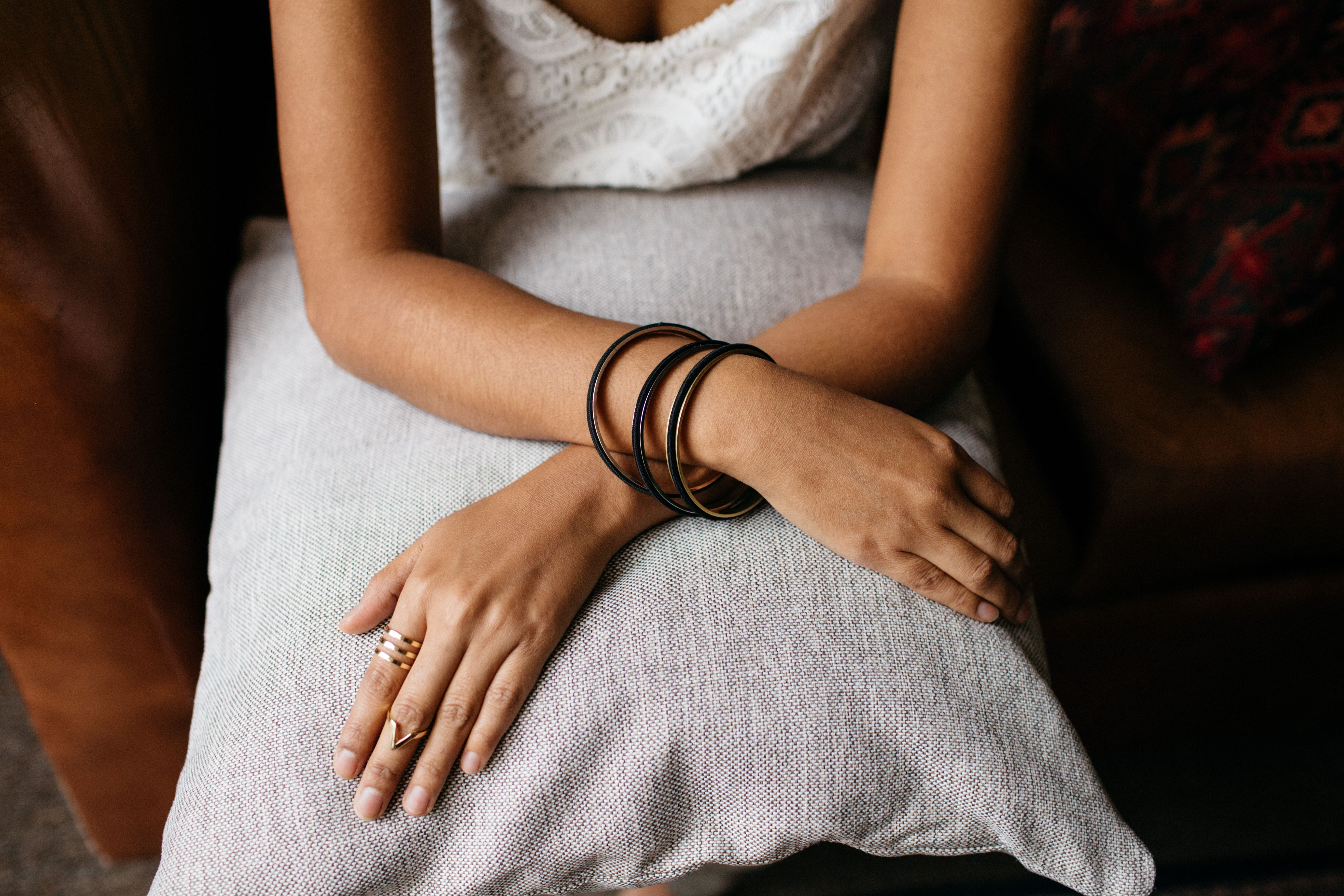 Beautiful hair tie bangles. Every Bela Collective purchase