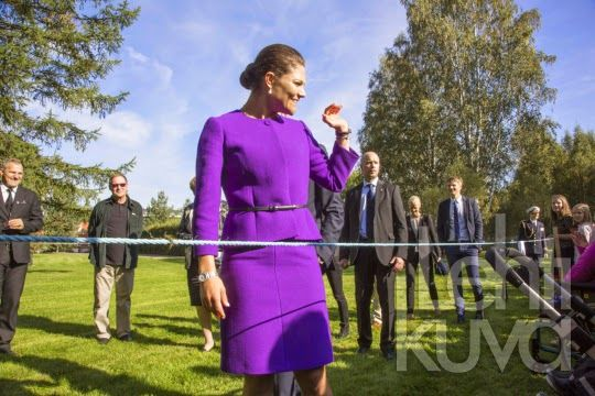 Friday, September 12, 2014 Crown Princess Victoria and Prince Daniel visited municipality of Umeå