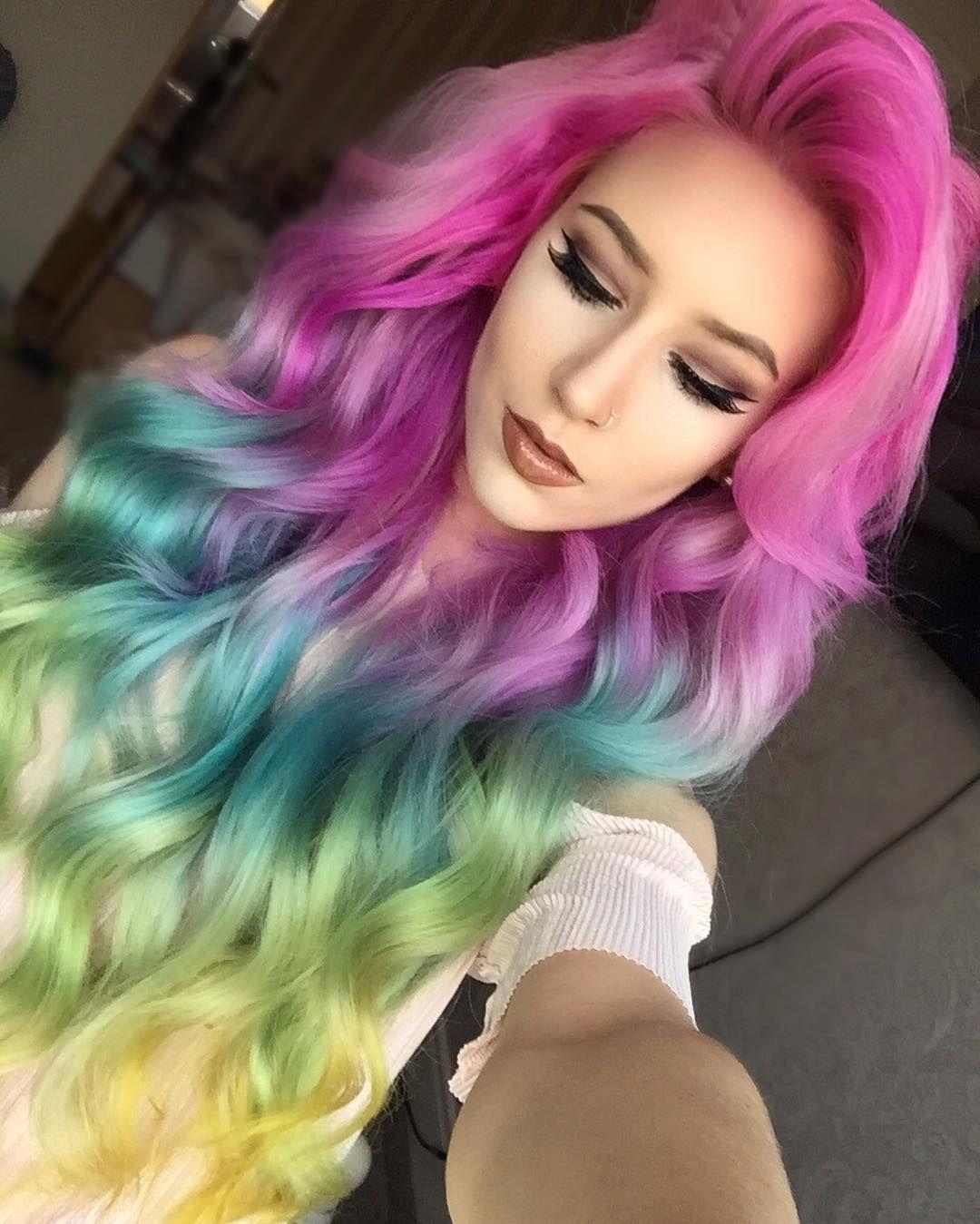 Pin By Keira Patel On Hair Hacks Pinterest Hair Rainbow Hair