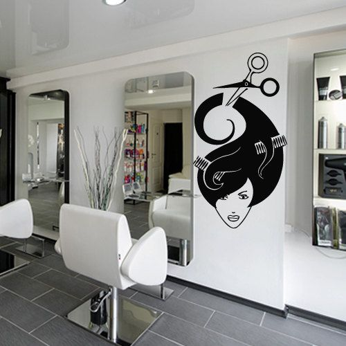 Wall Decal Decor Decals Sticker Art Stylist Mirror Hair Salon