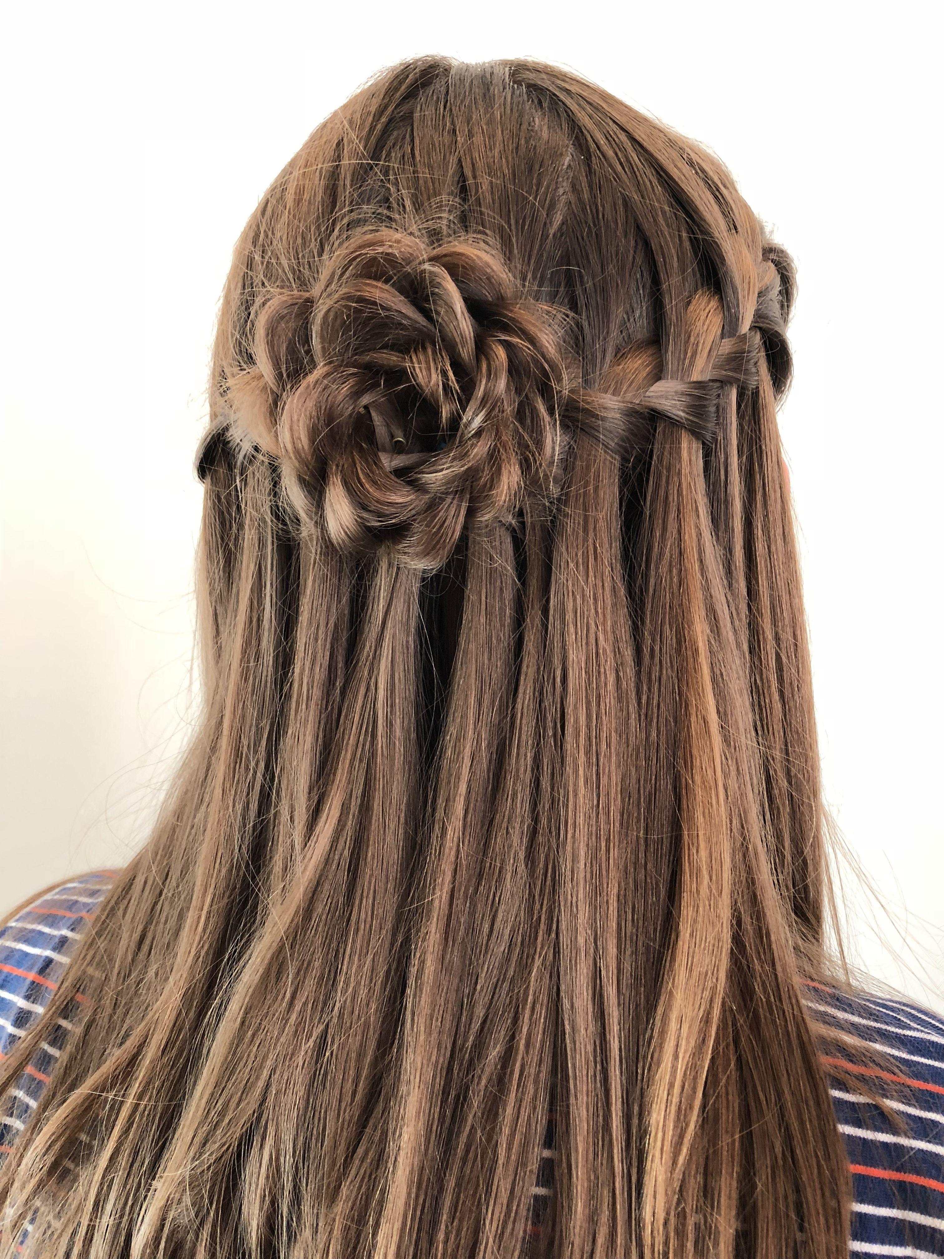 Half Up Half Down Rosette Hairstyle Medium Hair Styles Prom Hairstyles For Long Hair Hair Styles