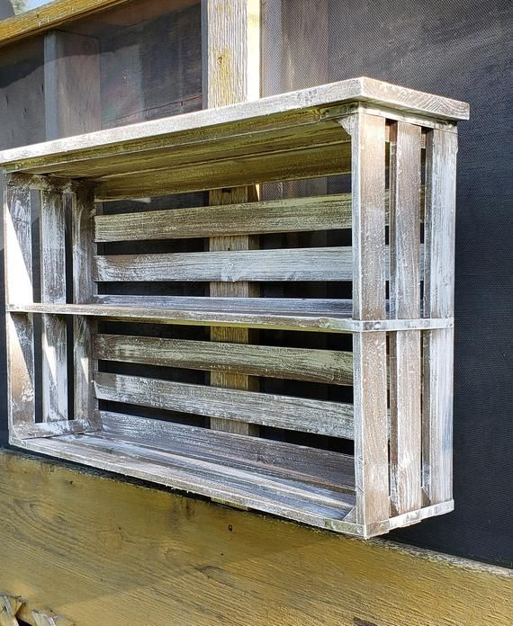 Distressed White Cabinet/ French Farmhouse Display Shelf