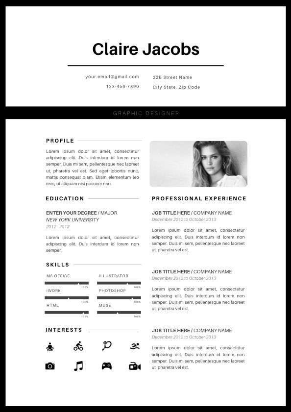 Resume Templates Microsoft Word 2013 Creative Resume Template Cv Template Instant Download Editable In .