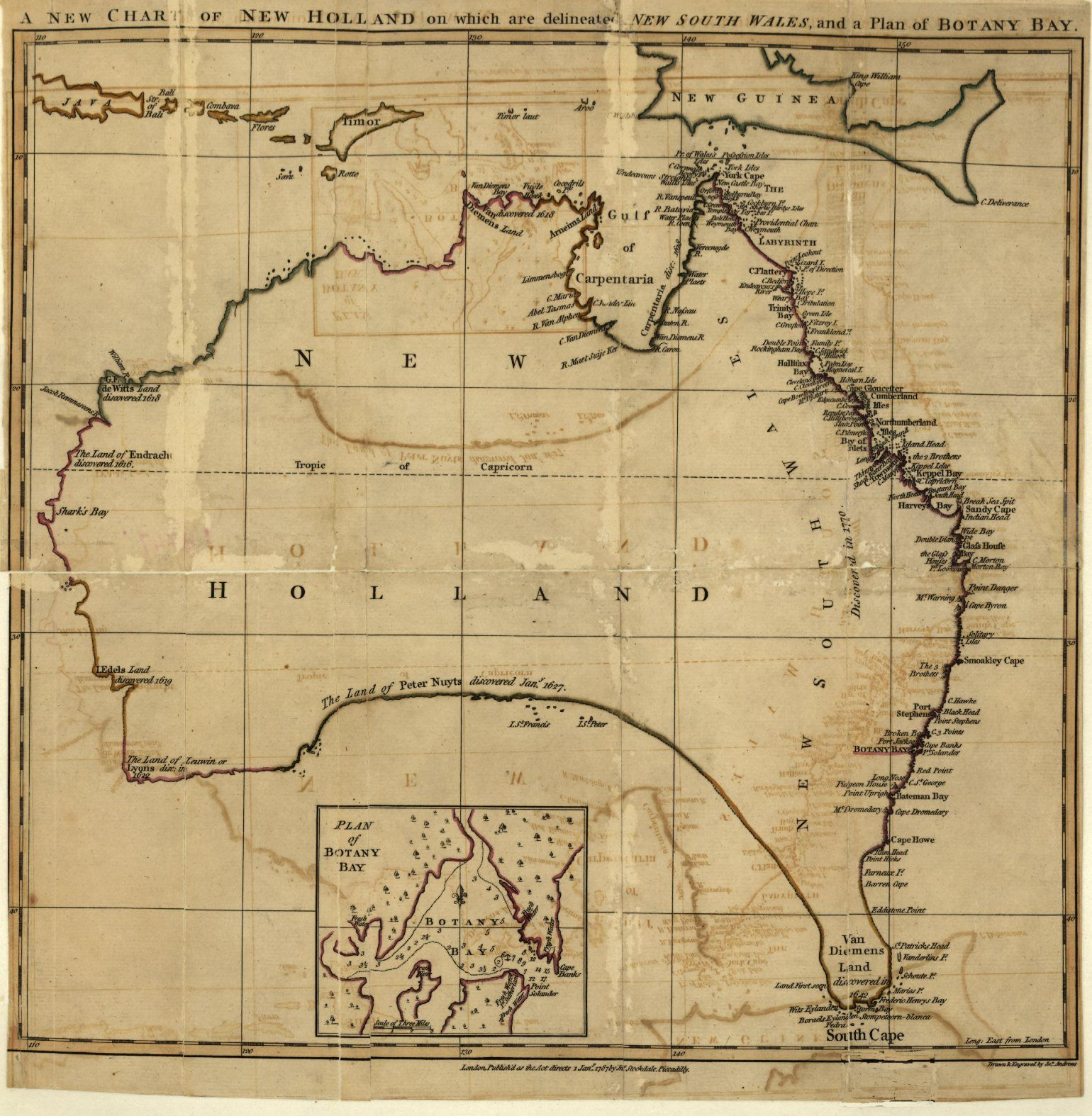 Map Of Australia 1770.1770 Cook S Map Of The East Coast Of New South Wales Exploration
