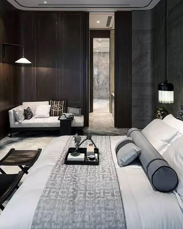 Un Chambre Tout En Noir Gris Et Blanc Tres Chic Decoration