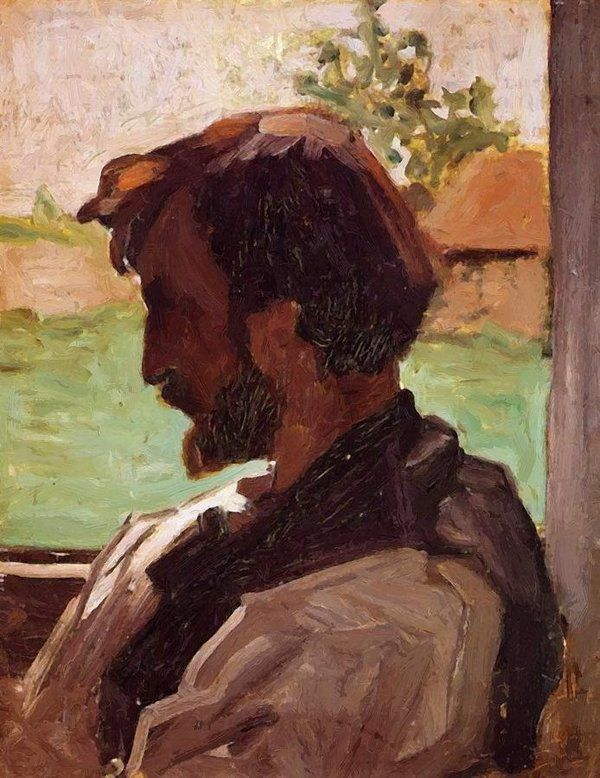 Self Portrait At Saint Saveur 1868 Poster By Bazille Frederic In