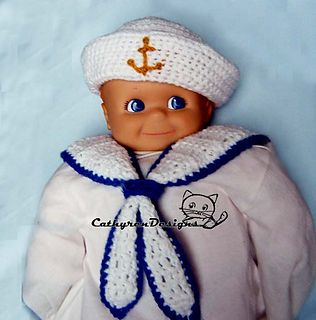 Baby Sailor Hat and Collar Set $4.50
