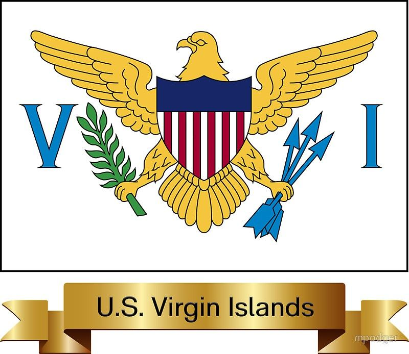 United States Virgin Islands Flag Gifts Masks Stickers Products N Sticker By Mpodger Flag Gift Virgin Islands Flag United States Virgin Islands