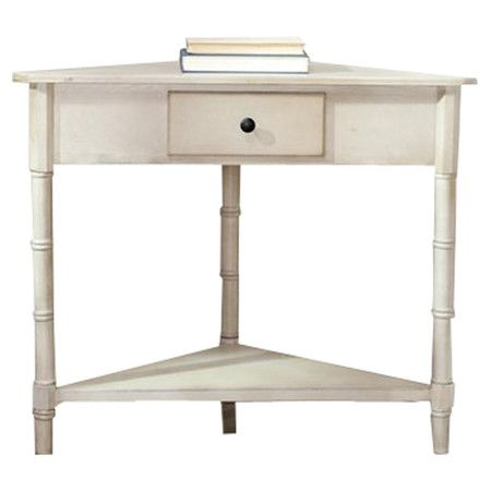 Corner accent table in vintage gray with 1 drawer a lower shelf corner accent table in vintage gray with 1 drawer a lower shelf and bamboo watchthetrailerfo