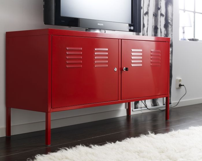 Amazing PS Cabinet Red 119x63 Cm