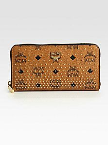 MCM - Studded Continental Wallet