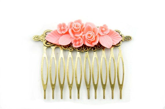 Flower Hair Comb  Bridal Accessories Flower by cheapandchicland