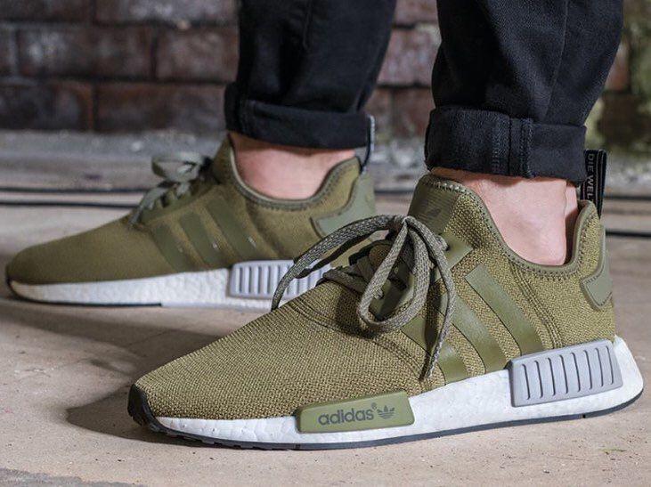 Army green nmd Adidas, odzież skate, Adidas nmd r1  Adidas women, Skate wear, Adidas nmd r1
