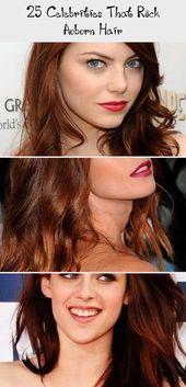25 Celebrities Rocking Auburn Hair # Maroon # Celebrities #Hair #rock …
