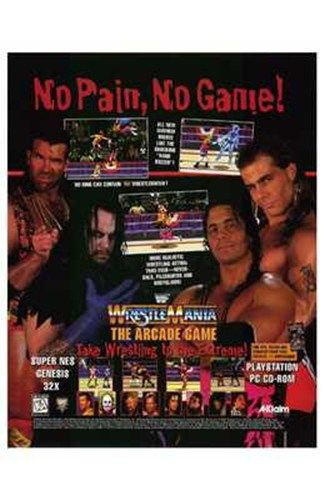 Wwf Wrestlemania Poster Medium Small Paper Size 11 X 17 Retro Games Poster Wrestling Games Vintage Video Games