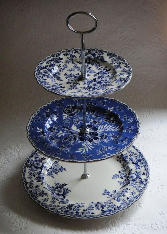 Cake Stand Blue Dishes Blue And White China Blue And White
