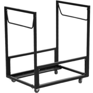 Lifetime Chair Carts 80279 Standing Folding Chair Rack Chair Storage Folding Chair Rolling Cart