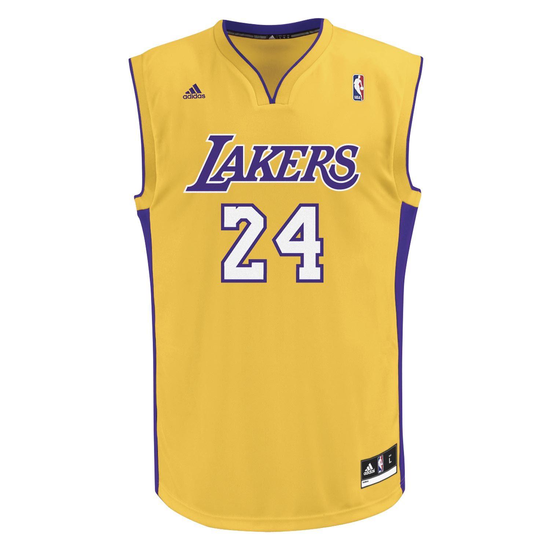 Maillot NBA Adidas Los Angeles Lakers 24 Kobe Bryant jaune - #adidas #nba