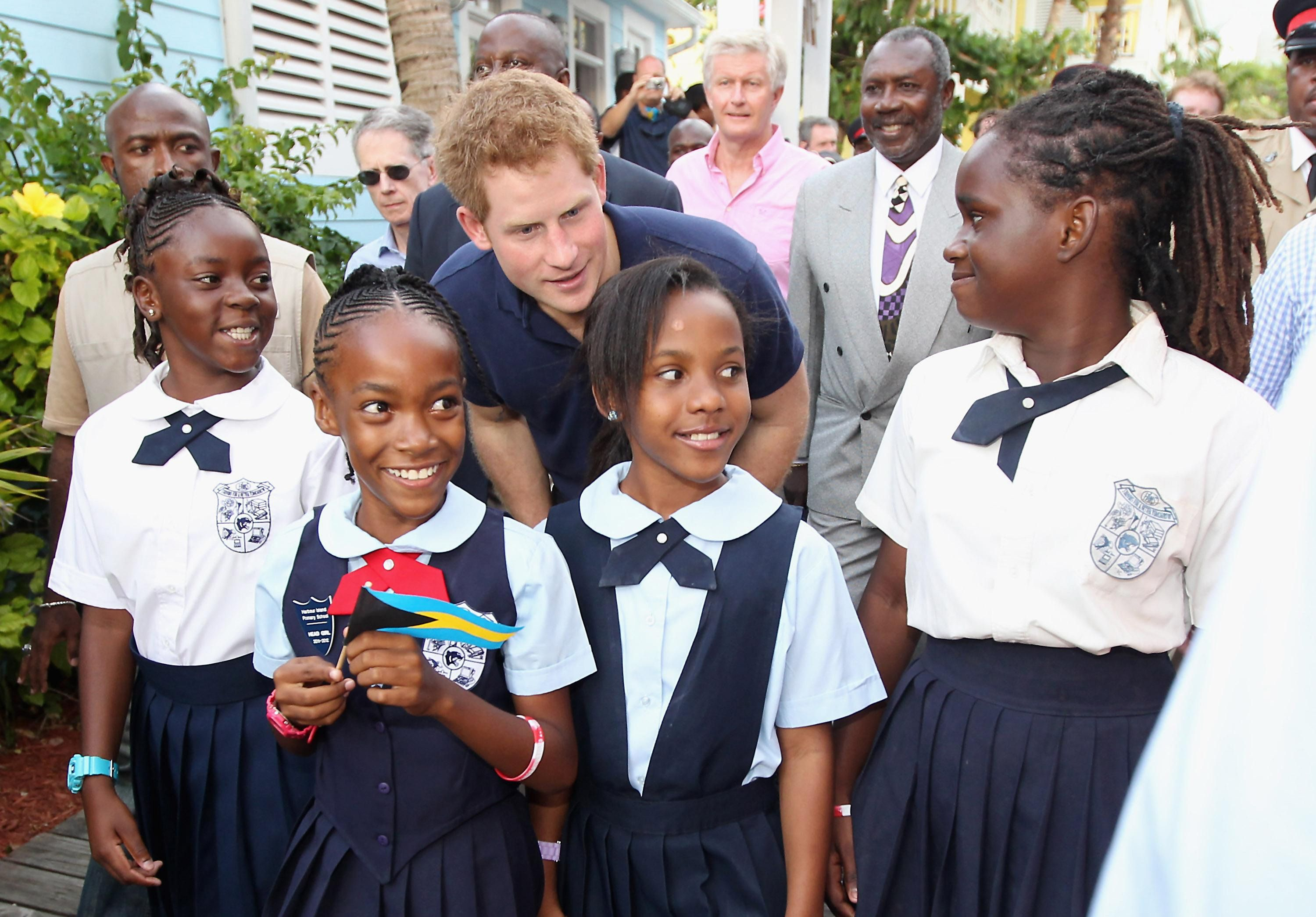 Harry attended a youth rally at a local stadium to praise the young children of the Bahamas for their accomplishments. Description from keepcalmandharryon.com. I searched for this on bing.com/images