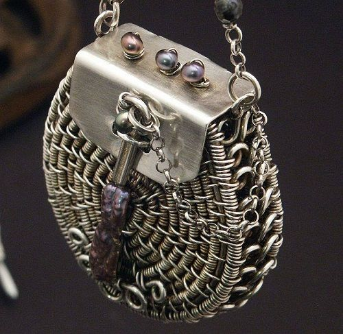 Basket Weaving Jewelry : Basket style wire woven jewelry designs by wired elements