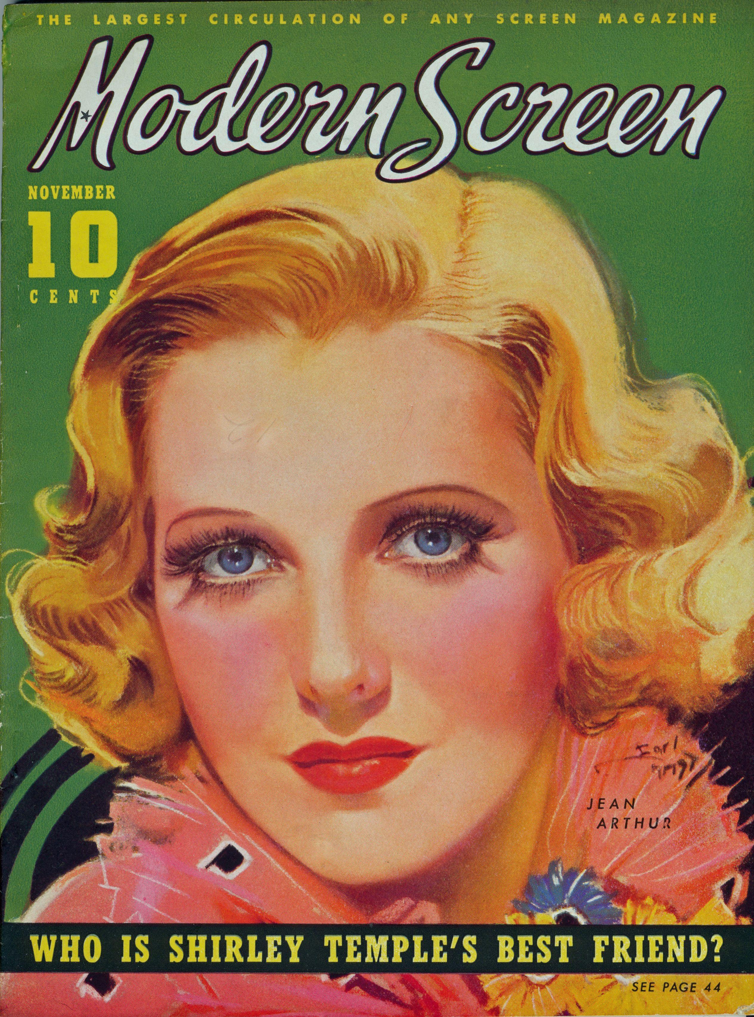 Modern Screen, November 1936 : Jean Arthur | classic movie ...