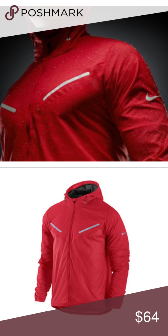 JacketRed Nike Hurricane Running Vapor Reflect g6b7fy