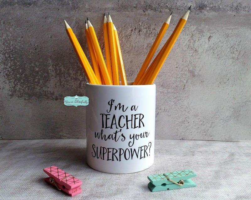 Personalised Teachers Pen Pot