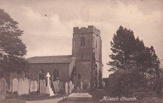 Milwich Church Graveyard  Vintage Photo by FunerealEphemera