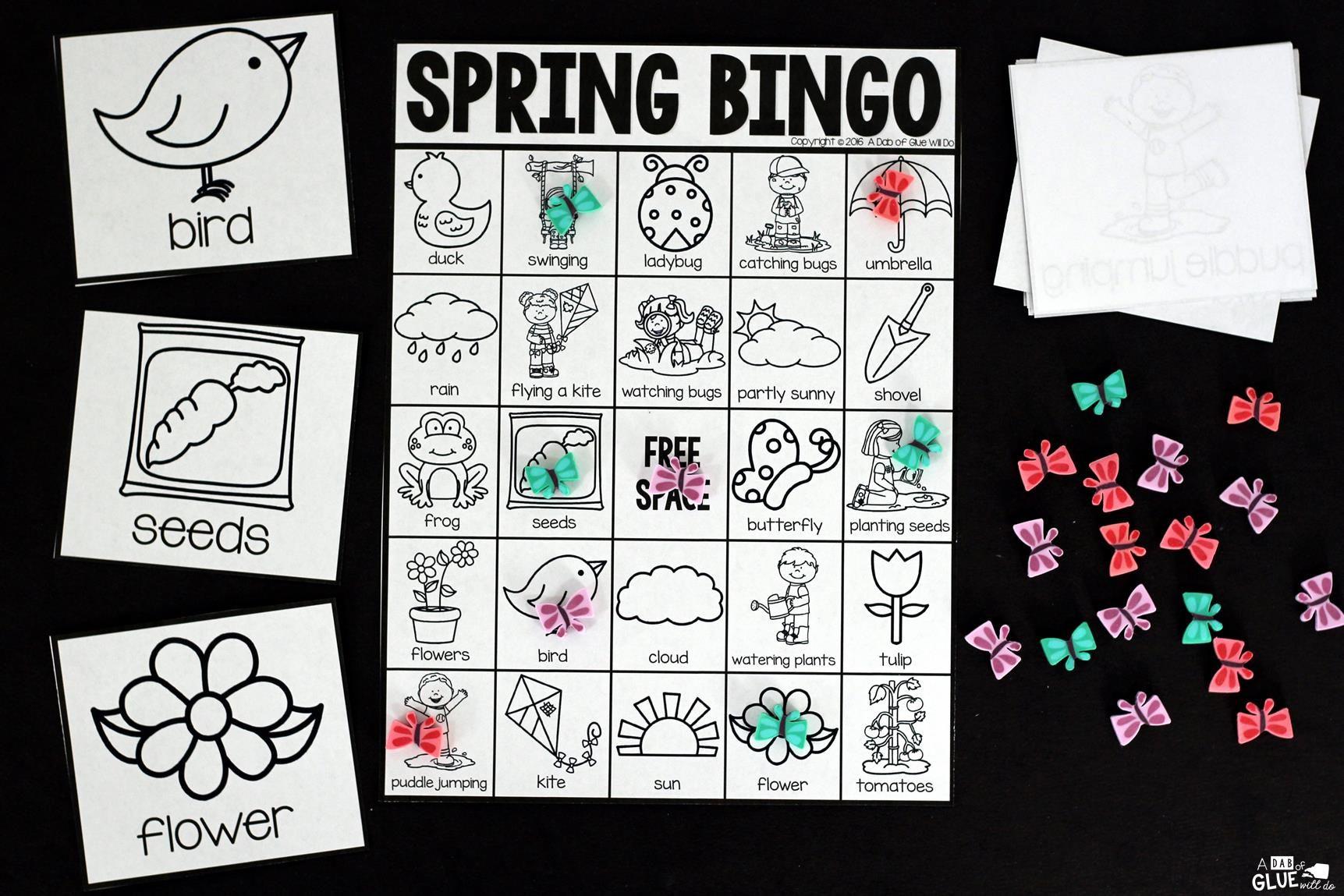 Bingo Sheets For Spring