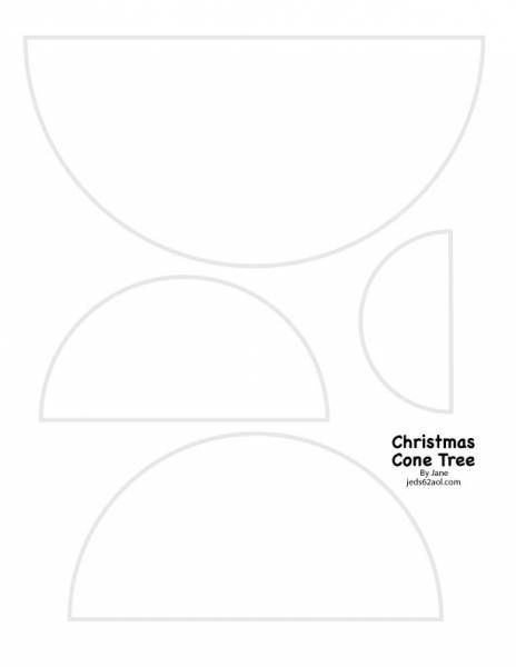Christmas Cone Tree Template by JaneCS - Cards and Paper Crafts at ...