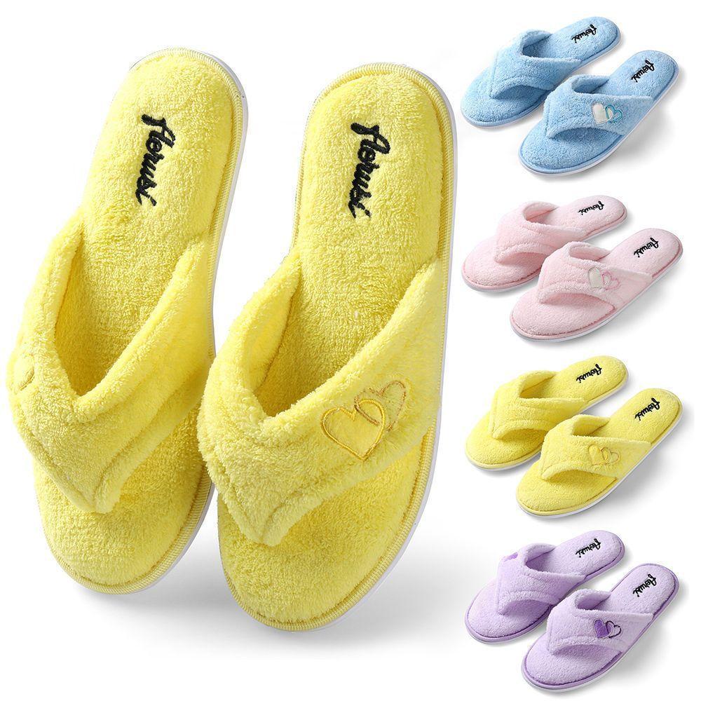 cad4b71c381c Winter Warm Women Plush Fuzzy Thong Slippers Cozy House Spa Shoes Size S M  L Xl