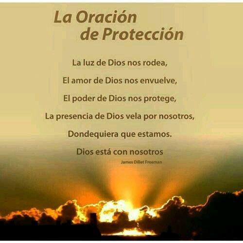 Oración de Protección | Oraciones, Oracion de proteccion, Luz de dios