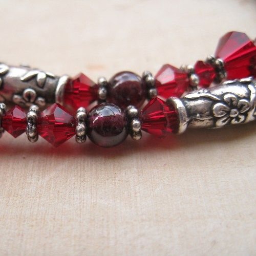 #SolanaKai - Swarovski Crystal Glass And Silver-Plated Pewter Rose Necklace in Reds from the #BlueMorningExpressions Countdown to Christmas Blog on Traditional Christmas in Argentina http://bmebluprint.blogspot.com/2013/09/around-world-for-christmas-first-stop.html