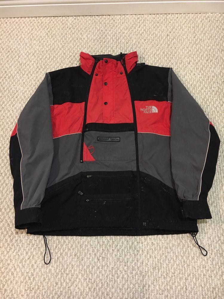 98ab298bf VTG 90s The North Face Steep Tech Scot Schmidt Red Black Jacket Mens ...