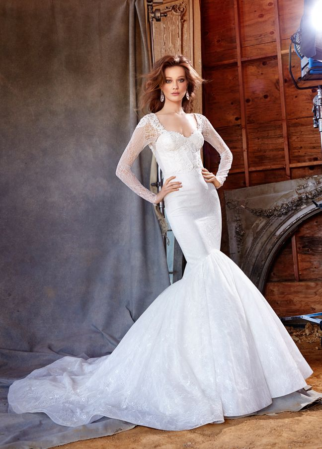Lazaro Bridal Gowns Wedding Dresses Style LZ3560 By JLM Couture Inc Ivory Chantilly