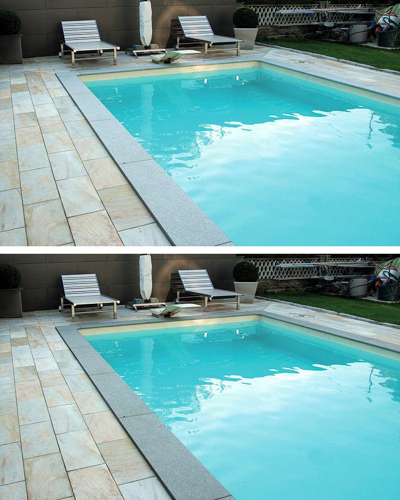 Beckenrandsteine Aus Granit Runden Den Pool Elegant Und Stilvoll Ab Und  Sorgen Für Sicherheit Um Das