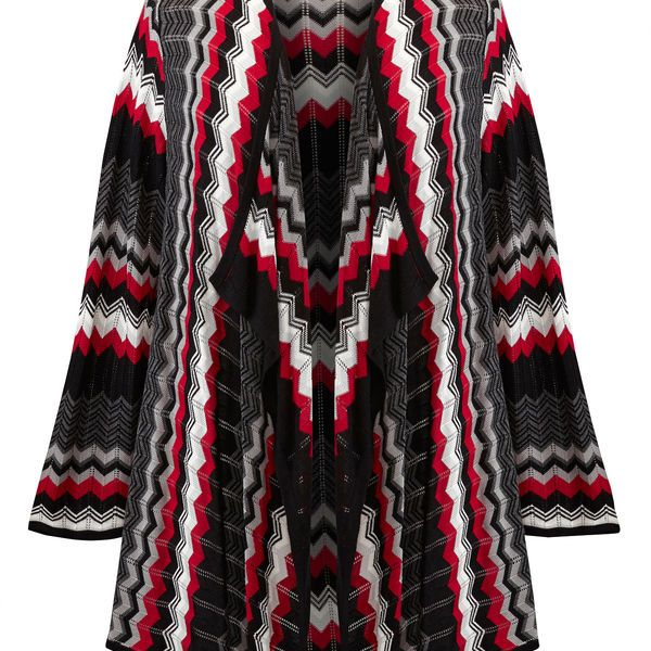 Chevron Cascade Cardigan-Plus Size Cardigan-Avenue