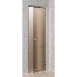 Puertas de aluminio para bano color madera