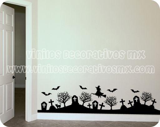 Vinilos decorativos de murcielagos y tumbas para halloween - Vinilos decorativos para exteriores ...
