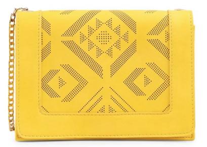 6da339f64e Mini sac perforé en cuir jaune à chaine, Minelli | Sac | Bags ...