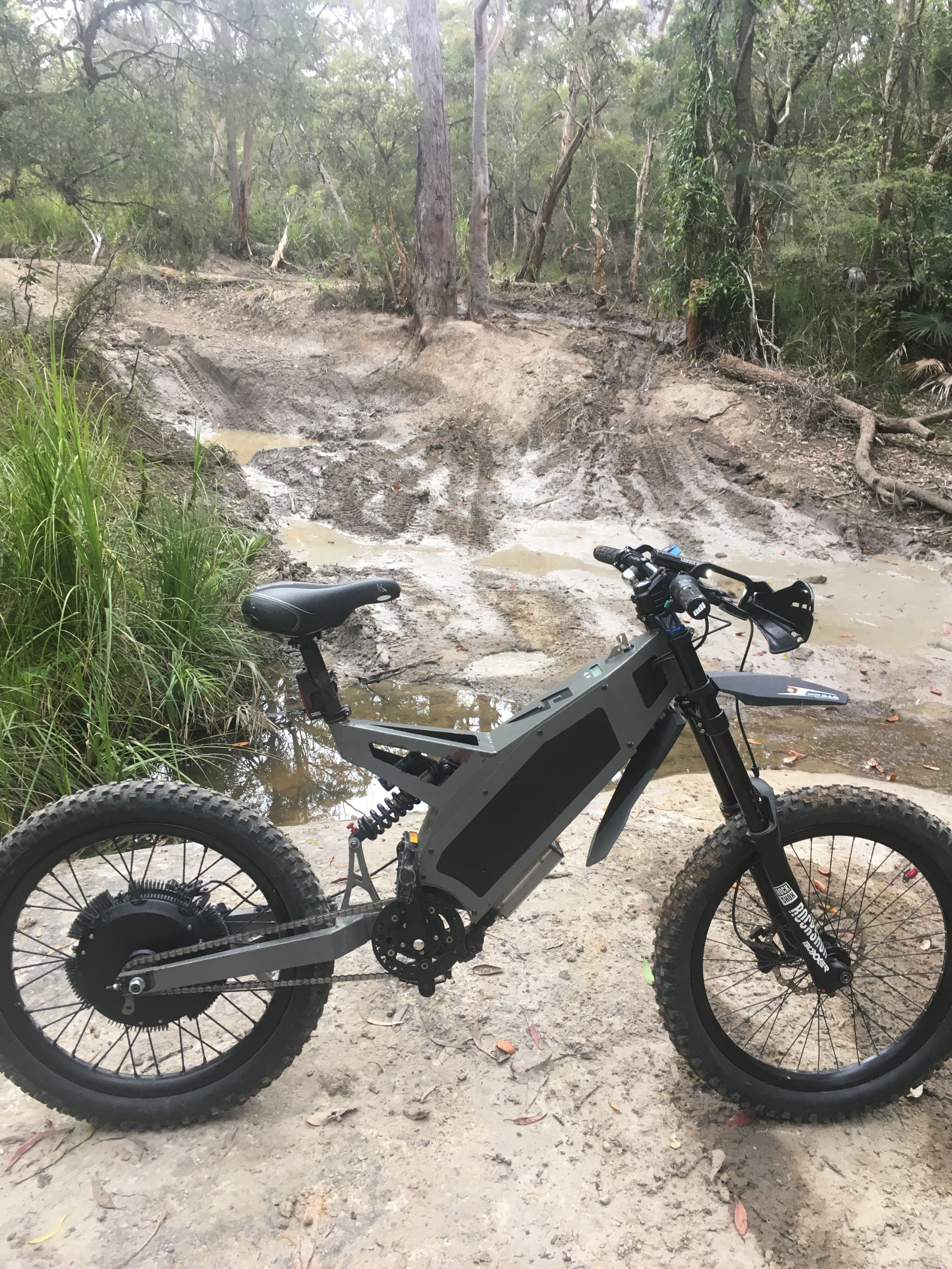 8500w Fighter Tackling The Mud Trail Best Electric Bikes